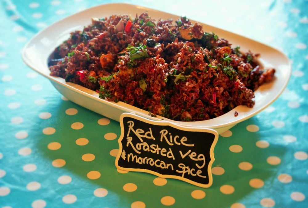 Red Rice Roasted Veg & Moroccan Spice