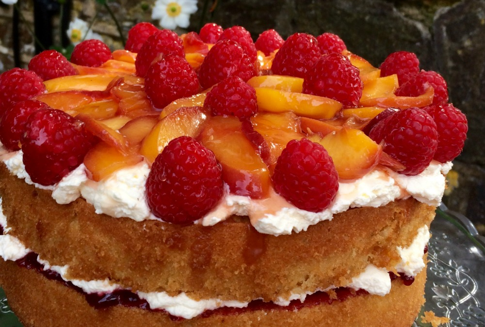 Fresh peach melba